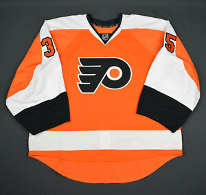 2015-16 Steve Mason Philadelphia Flyers Game Used Worn Hockey Jersey MeiGray NHL