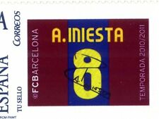 Sello Iniesta FCBARCELONA temporada 2010-2011 football fcb stamps