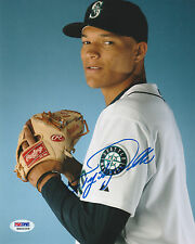 TAIJUAN SKY WALKER SIGNED AUTO'D 8X10 PHOTO PSA/DNA COA RG00258 SEATTLE MARINERS