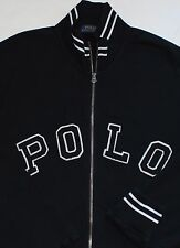 $165 New Polo Ralph Lauren Black Baseball Varsity Heritage Bomber Jacket / Large