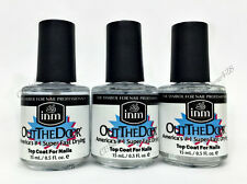 INM - Out The Door Fast Drying Nail Top Coat 0.5oz/15ml x SET OF 3