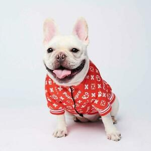 Supreme Dog Clothes Hoodies Jacket Pet Fashion Accessories Clothes Walking