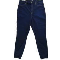 Fashion Nova Women Jeans, High Waist Skinny Dark Wash Stretch Denim, Size 18W