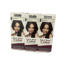 NEW 3PK CoSaMo Hair Color #779 Dark Brown - Compares to Clairol Loving Care #79