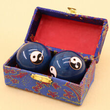 Set 45mm Chinese Baoding Balls Health Exercise Relaxation Therapy Yin Yang