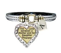 Custom Love Between Mother & Daughter is Forever Silver Gold Bracelet Jewelry