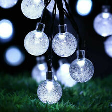 30 LED Solar String Light Crystal Balls Outdoor Garden Patio Party Wedding