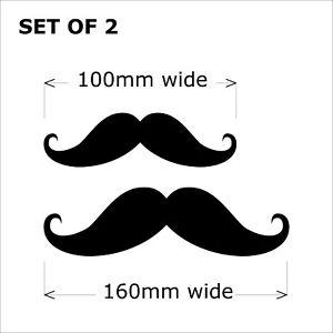 Mustache Moustache Funny Car Ute Helmet Window Shop Bumper Sticker Vinyl Decal