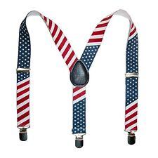 USA American Flag Kids Baby Suspenders Elastic Adjustable Stars and Stripes