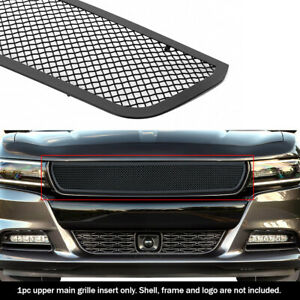 Fits 2015-2018 Dodge Charger/19-21SXT Main Upper Stainless Black Mesh Grille