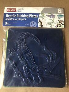 Roylco Reptile Shape Rubbing Plates New