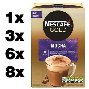NESCAFE GOLD MOCHA (1 to 64 sachets) instant coffee cheap free deliver