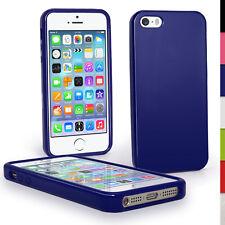 Azul Brillante De TPU para Apple iPhone 5 5S se Teléfono Móvil 4G LTE Piel Cubierta