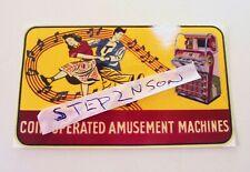 Seeburg V Jukebox machine Water Release Decal Juke vintage vending Arcade Music