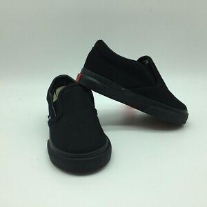 "Vans Toddlers Shoes ""Classic Slip-On' Black/Black"