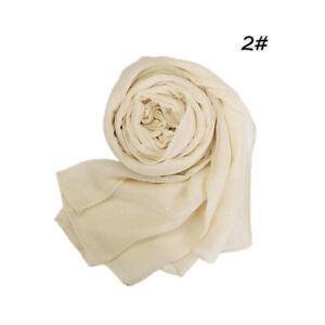 Women's Glitter Viscose Hijab Scarf Plain Color Muslim Scarves Wrap Muslim Shawl