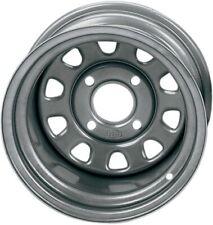 ITP Delta Steel Rear 12X7 ATV Wheel - 1225544032 Silver 37-1336 D12R411 57-9233