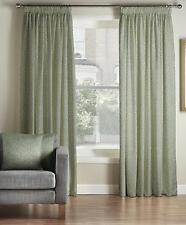 One Pair Of TRULIVING Rich Damask Design Classique Pencil Pleat Lined Curtains