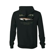 New Salty Crew Bruce Hood Fleece Long Sleeve Mens Pullover Large Black code 14-3