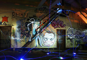 *Curiosity - Light Graffiti Canvas Print - Ltd Ed of 25 -  Urban Art Exposure*