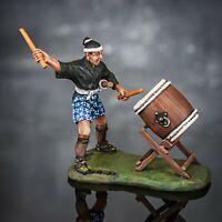 Zinnfigur. Ashigaru with taiko drum. Sm-37. 54mm.