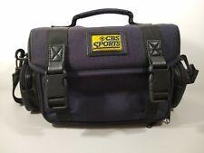 CBS Sports Camera Bag Vintage Rare EUC Strap Dark Blue