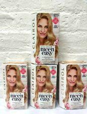 4 Clairol Nice' n Easy Natural Looking 9 Light Blonde Hair Dye Color Read