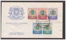 SOMALIA AFIS 1957 - EMBLEMA DELLA SOMALIA  - FDC