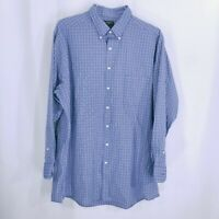 Dockers Mens Button Up Striped Long Sleeve Casual Shirt Blue Size XL