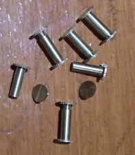 6PCS Brass Chicago Binding Screws Ø5mm Size  15mm