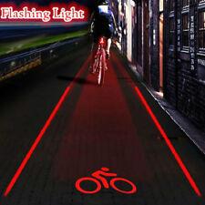 5 LED 2 Laser Cycling Bicycle Bike Rear Tail Safety Warning Flashing Lamp Light