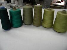 6 gros cones de fil polyester surjeteuse  promotion  +1.2kg vert