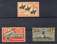 Tabacofilia Gran Bretaña etiquetas de cajas de cerillas o foforos (DC-994)