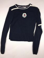TOMMY GIRL Hilfiger Size S Navy Blue LOGO Vintage 90's Sweater Top Pullover