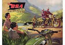 1956 BSA Motorcycles poster