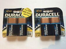 Duracell Ultra Digital Camera Battery CR-V3 Lot of 4 NEW DLCRV3B2 3 Volt 2021