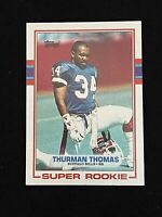 1989 Topps Thurman Thomas HOF Football Rookie Card #45 NM-MINT or Better!