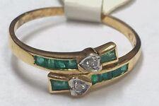 18 Carati Oro Giallo Taglio Princess Cuore Motivi Diamante da Donna Anello