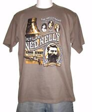 Ned Kelly Gang Outlaw Legend Brown Short Sleeve Black T Shirt S,M,L,XL,XXL,3XL