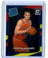 2017-18 Optic YELLOW RED PRIZM REFRACTOR Lauri Markkanen RC Chicago Bulls Card🔥