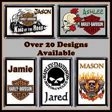 Personalised Harley Davidson Fridge Magnet - With Name - Gift Idea, 7x5cm - Bike
