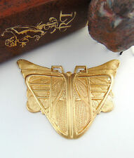 BRASS Egyptian / Art Deco BUTTERFLY SCARAB Stamping ~ Ornament Finding (C-404)