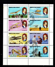 EQUATORIAL GUINEA 1979  AVIATION  MINT  VF NH  O.G SHEET OF 8  CTO  (eq10c)
