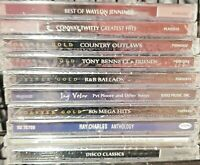 LOT OF 10 NEW SEALED COUNTRY CDS--WAYLON JENNINGS-CONWAY TWITTY. FREE SHIP