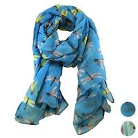 1X 190*80cm Lady Womens Long Cute Dragonfly Print Scarf Wraps Shawl Soft Scarves