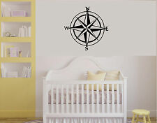 Nautical Compass Kids Removeable Wall Decal Navy Oceanic