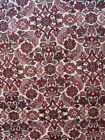ANTIQUE HAND KNOTTED WOOL FISH DESIGN  IVORY ORIENTAL RUG CLEANED  4.5 x 7