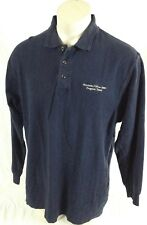 Eli Lilly Windows Office 2000 Program Team Navy Blue Long Sleeve Shirt Large