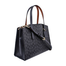 COACH CHARLIE SIGNATURE CARRYALL SHOULDER BAG CHARCOAL MIDNIGHT NAVY Msrp $350