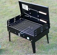 PORTABLE CHARCOAL BBQ FOLDING BARBECUE TRAVEL PICNIC OUTDOOR CAMPING GRILL TOOLS